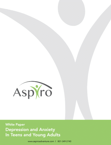 Free White Paper: Depression and Anxiety in Teens and Young Adults | Aspiro Adventure Therapy