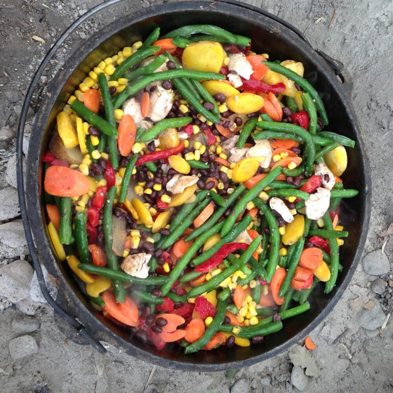 Bowl of vegetables prepared by Aspiro students