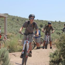 Aspiro students starting off on mountain bike trail
