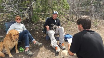 Student meets with his therapist while attending Aspiro Wilderness Adventure Therapy program